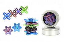 Fidget Spinner hliník v plechové krabičce - mix barev