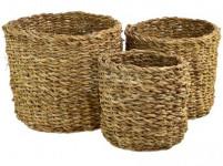 košík guľatý strednej pr.21x18cm morská tráva