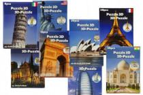 Pěnové puzzle 3D Památky různé druhy v krabici 16x22cm - mix variant či barev