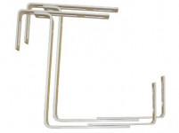 držiak truhlíkov balkon.17x10,5-20cm nastaviteľný kov. (2ks)