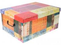 box úložný 51x37x24cm s vekom, kartón - mix variantov či farieb