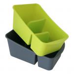 organizér kuchynský 25x15x10 plastový - mix farieb