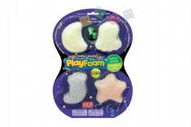 PlayFoam Plastelína / Plastelína guličkové svietiace v tme 4 farby na karte