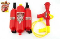 Sada malý hasič dělo na vodu 30cm + nádrž 20x30cm plast