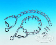 Obojek řetěz chrom ostnatý s karabinou Nobby 0,38 x 52 cm