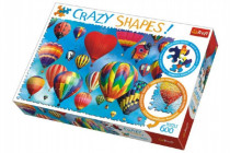 Puzzle Farebné balóny 600 dielikov Crazy Shapes 68x48cm