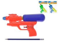 Vodní pistole plast 21cm s nádržkou - mix barev
