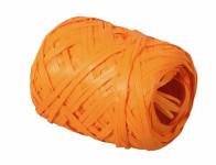 Stuha RAFIA vajíčko oranžová šířka 12,5mm délka 20 m