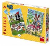 Puzzle Krtek se raduje 18,1x26,4cm 2x48 dílků