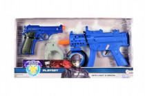 Sada policie pistole 2ks + doplňky plast na baterie se zvukem se světlem