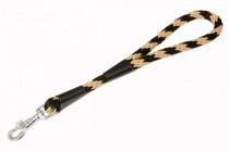 """Vodítko textil lano """"Špirála"""" čierno / béžovej B & F 1,40 x 35 cm"""