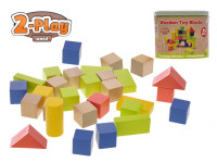 Kocky drevené 50 ks 2-Play v vedre