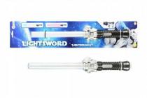 Meč svítící plast 42cm na baterie se světlem