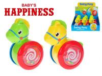 Koník kĺzajúca 13 cm Baby's Happiness - mix farieb