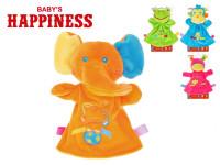 Maňuška zvieratko plyšové 23 cm Baby's Happiness na karte - mix variantov či farieb