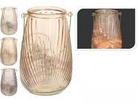 lucerna 50LED 21cm sklo - mix farieb