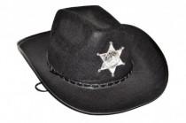 Klobouk kovbojský Šerif průměr 38cm karneval