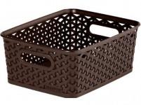 "box úložný RATTAN 25x20x10cm (S), ""Y"" STYLE, plastový, HN"