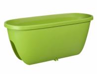 Truhlík BALCONIA na zábradlie plastový zelený 60cm - VÝPREDAJ