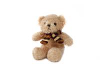 Medveď plyšový 17 cm sediaci so šálom