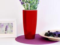 Samozavlažovací kvetináč GreenSun LIQUIDS priemer 12 cm, výška 23 cm, červený