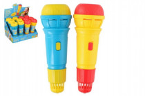 Mikrofón s ozvenou plast 24cm - mix farieb