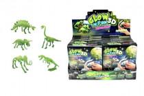 Dinosaurus svietiace skladačka 3D plast asst - mix variantov či farieb