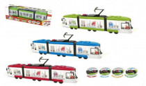 Tramvaj plast 43cm na baterie česky mluvící se světlem - mix variant či barev