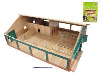 Kravín s dojáreň drevený 75x60x26,5 cm 1:32