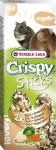 VL Crispy tyč škrečok, potkan - ryža, zelenina 2 ks, 110 g - VÝPREDAJ