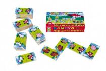Domino Moje prvé zvieratká drevo spoločenská hra MPZ