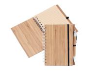 KARTON 5 ks: ECO bambusový zápisník s bambusovou propiskou a recyklovaným papírem, CatMotion