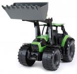 Traktor sa lyžicou Worxx plast 45cm 1:15 v krabici DeutzFahr Agrotron 7250