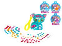 Zvieratko / prívesok na kľúče 6 cm s farebnými kamienkami - mix variantov či farieb