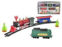 Vlak na baterie se světlem a zvukem s dráhou 196 cm + doplňky