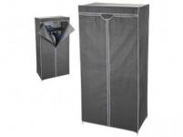 skriňa šatníková 75x45x160cm kov / textil