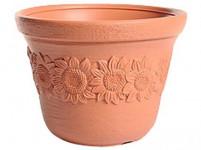 kvetináč SUNNY 30 v.17cm, TEHLY (R736) dekor