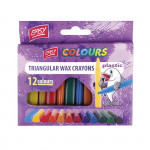 Plastissimo voskovky tojhranné plastic mix 12 barev