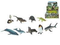 Zvířátka ryby/plazi Zoolandia 6-17,5 cm - 36 ks - mix variant či barev