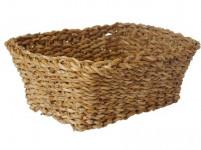 košík hranatý vysoký stredný 22x22x17cm morská tráva