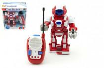 Robot RC plast 20cm na vysílačku na baterie se zvukem se světlem