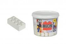 Blox 40 Kocky biele v boxe