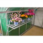 police do skleníku závěsná SPRING 128x35x30cm Al