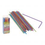 slamky s kĺbom pruhmi 5x210mm (150ks) - mix farieb