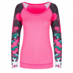 Spokey BALLS, fitness triko. dlouhý rukáv, růžové, vel. S