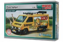 Stavebnica Monti 37 ZOO / Safari-Renault Trafic 1:35