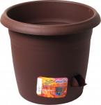 Plastia kvetináč samozavlažovací Siesta - 25 cm čokoládový