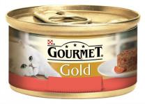 Gourmet Gold cat konz.-Savoury Cake hovädzie, paradajka 85 g - VÝPREDAJ