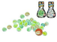 Kuličky skleněné 24 ks + 1 ks - mix variant či barev