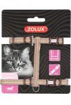 Postroj kočka TEMPO nylon čokoládový Zolux